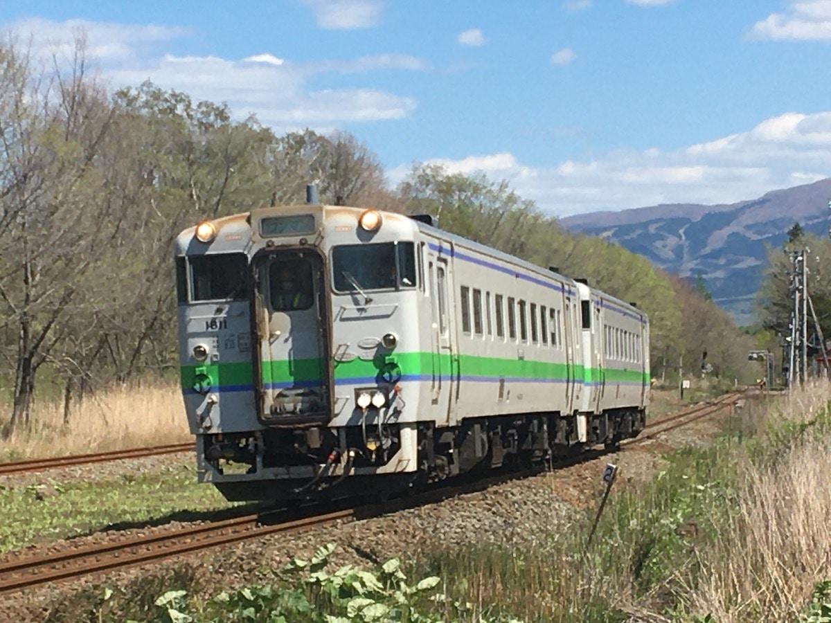 赤井川駅付近